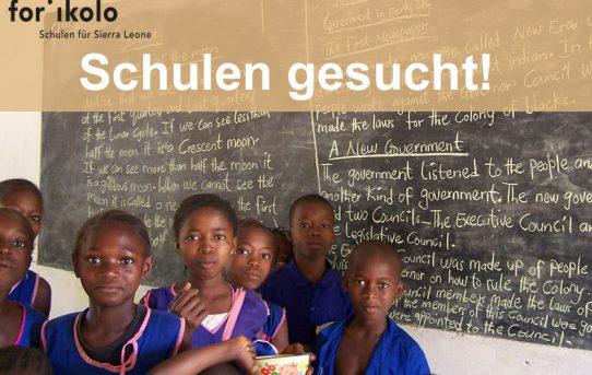 Schulen für Schulen: Werdet Partnerschule des Forikolo e.V.!
