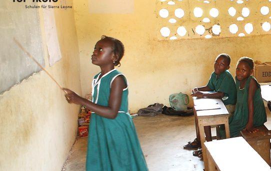 Schüler*innen der Schule in Forikolo (November 2016, Foto: Adrienne Krappidel)