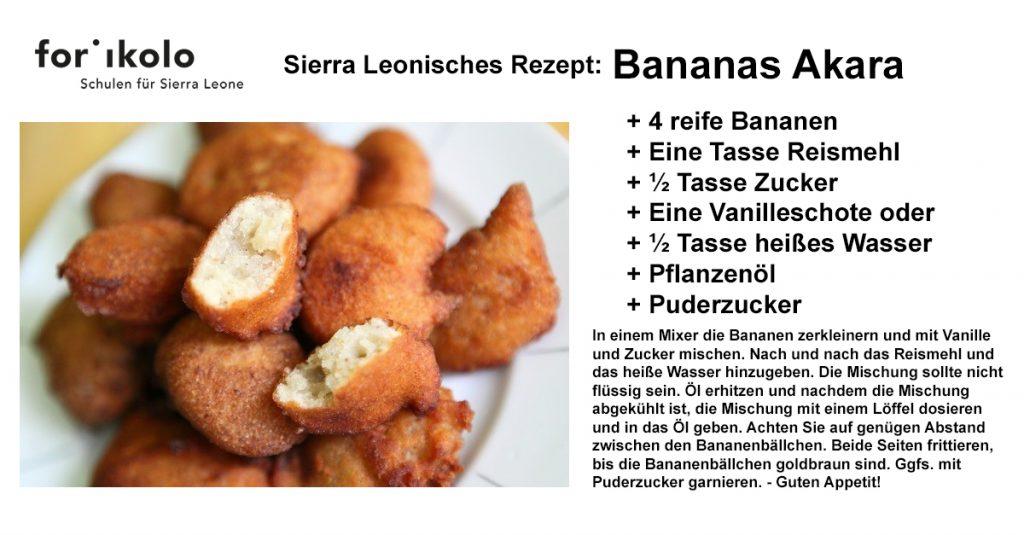 Sierra Leonisches Rezept: Bananas Akara
