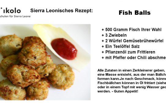Sierra Leonisches Rezept: Fish Balls