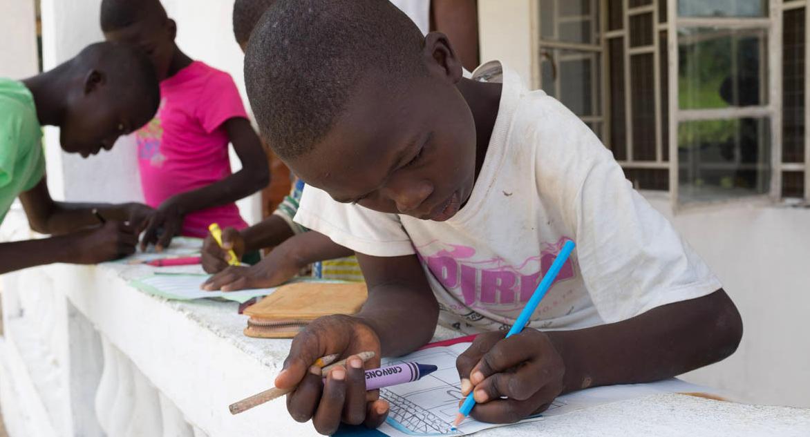Schüler in Sierra Leone
