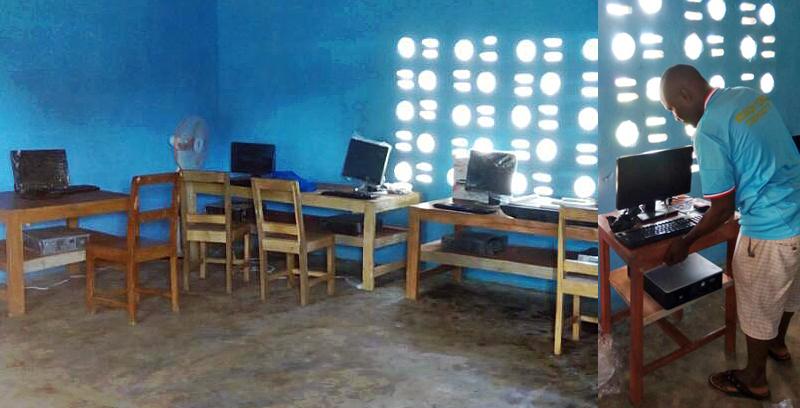 Ein Computerraum für die Schüler*innen in Maloko