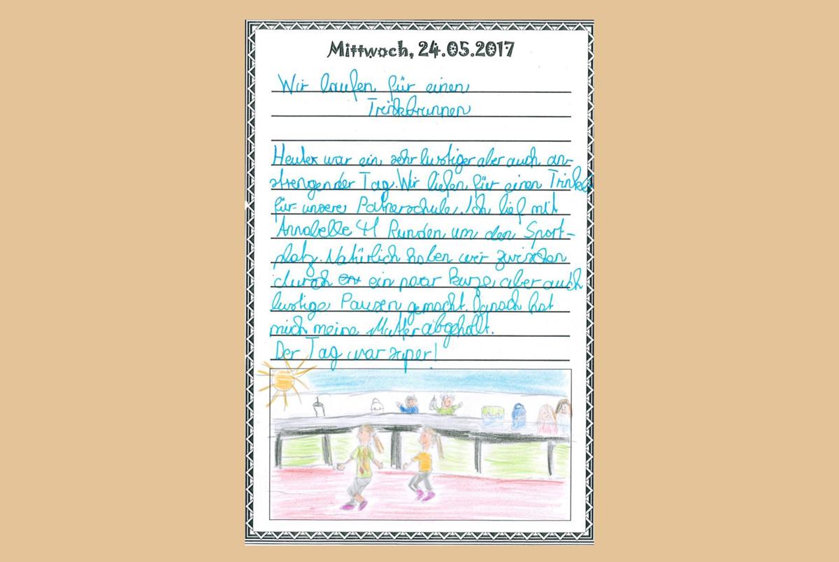 Brief eines Schülers der Grundschule Pöcking
