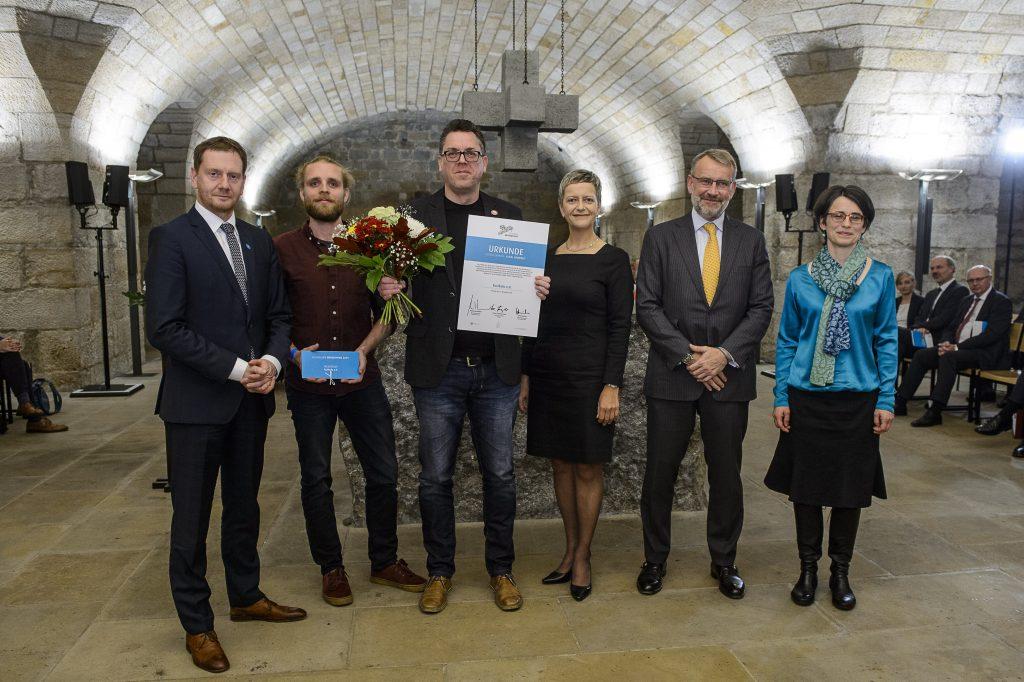 Bild der Preisverleihung des Sächsischen Bürgerpreises 2019 in der Frauenkirche Dresden