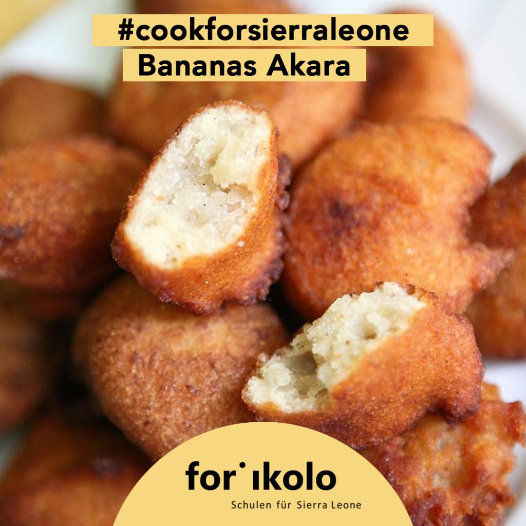 Sierra Leonisches Rezept: Bananas Akara, Forikolo e.V.