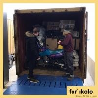 Beladung des zweiten Containers mit Hilfsgütern für Sierra Leone abgeschlossen.