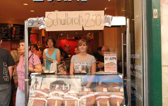 Verkaufsaktion der Lukas Bäckerei in Leipzig